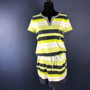 JONES NEW YORK Signature Striped Dress SZ Large